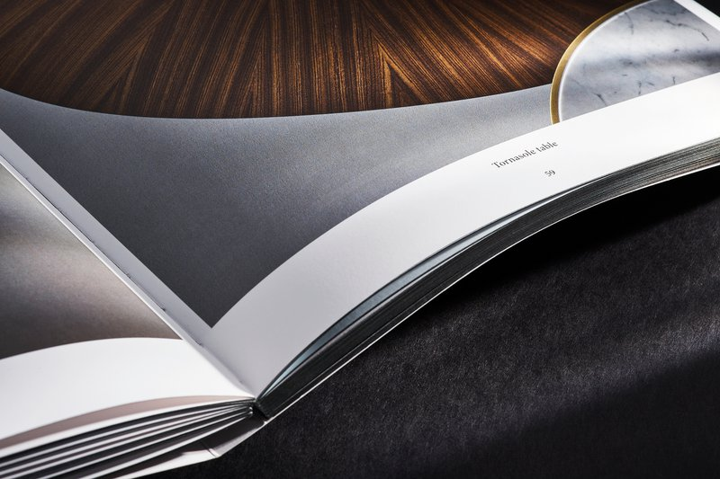 Boek voor Obumex Zwitserse binding en kleur op snede