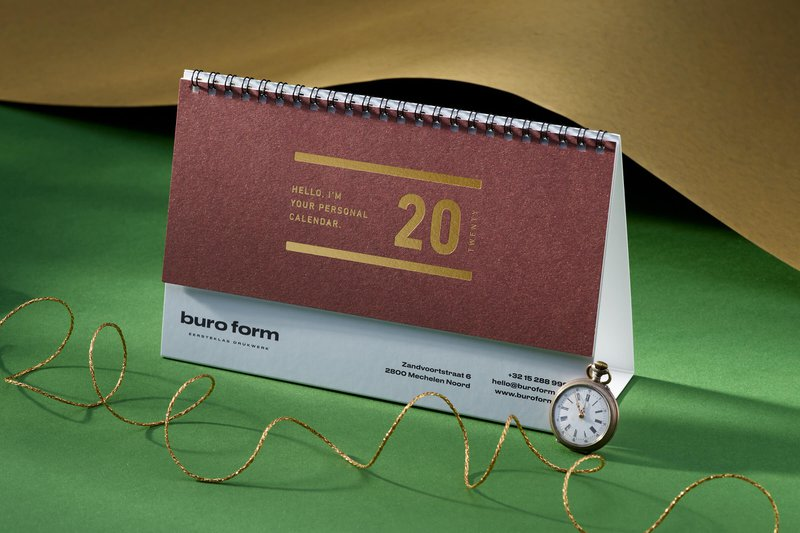Kalender laten drukken in eigen huisstijl
