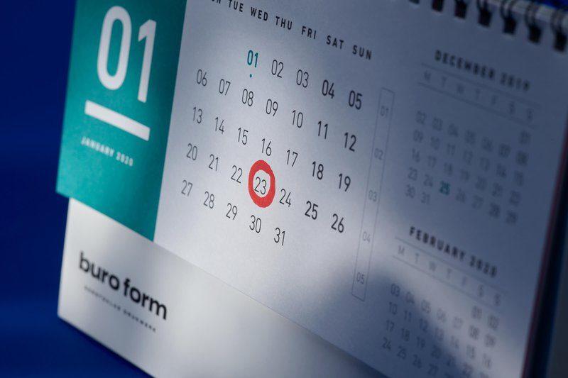 Kalender met datum gemarkeerd