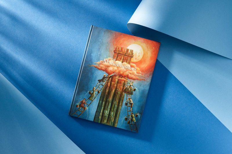 Boekcover: De Maneblussers, illustraties
