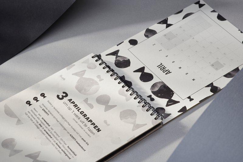Gepersonaliseerde kalender als relatiegeschenk