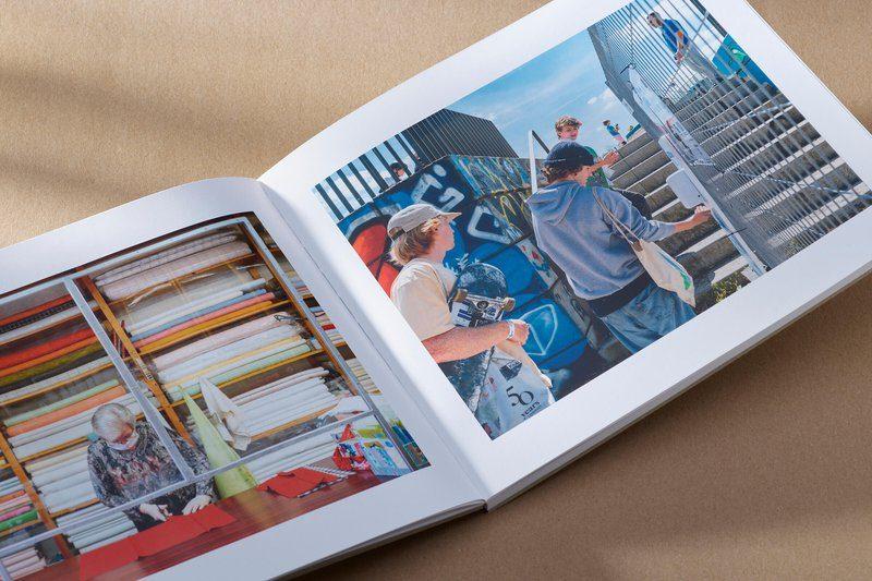 Binnenwerk van fotoboek